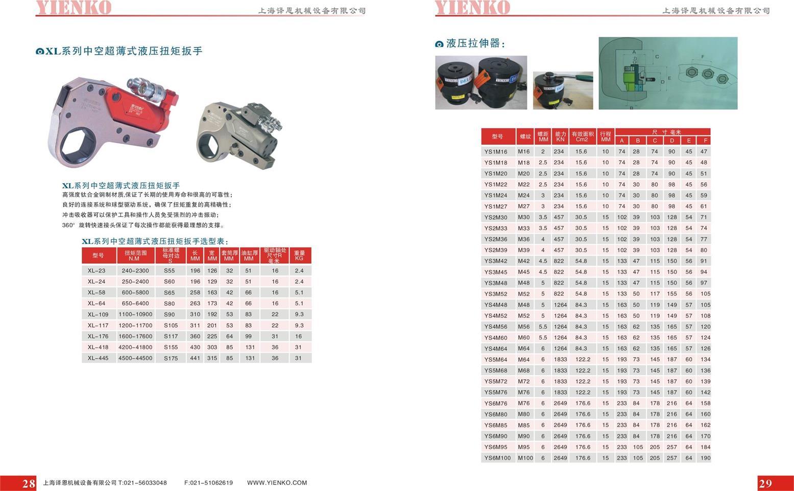 供应YIENKO方驱液压扭矩扳手-YIENKO电动液压扭矩扳手生产厂家