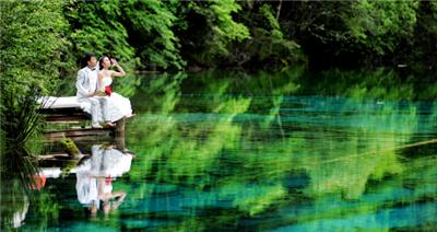 九寨沟婚纱照纱摄影团购——口碑好的1599九寨沟写真套系就在浪漫之旅