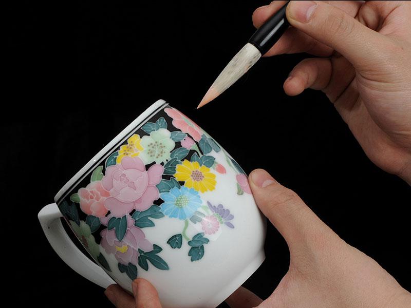 手繪茶具—— 的釉下五彩繽紛單杯株洲天機巧瓷藝優惠供應